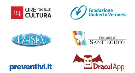 24Ore Cultura, Fondazione Umberto Veronesi, ViaSat, Comunità Sant'Egidio, Preventivi.it, DraculApp