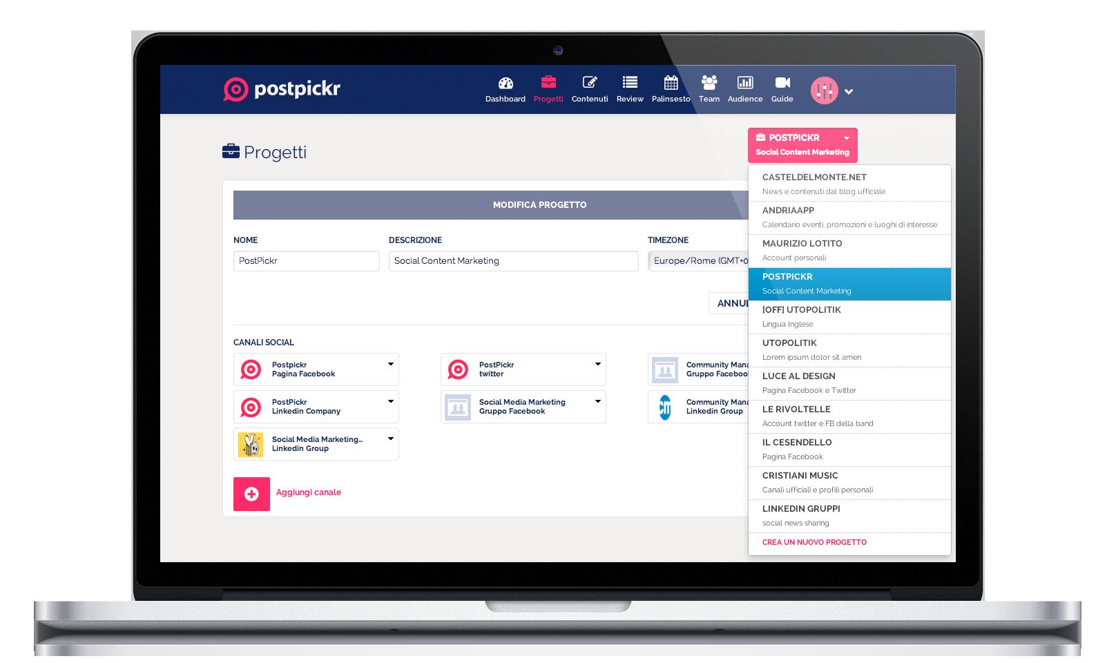 Usare i progetti per impostare il piano editoriale for Creare progetti online