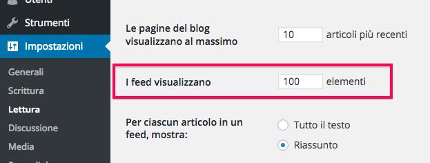 impostazioni-feed-wordpress