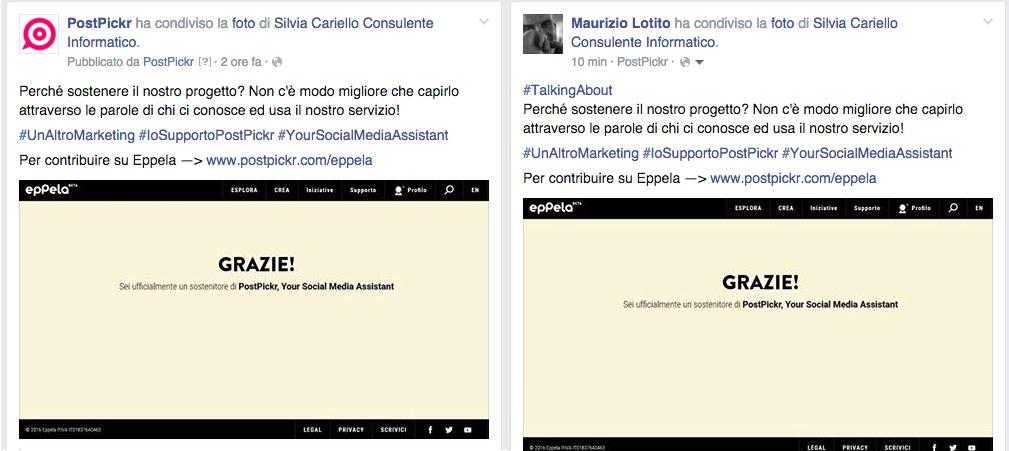share FB page>Profilo