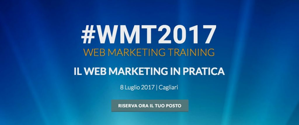 Web Marketing Training - cover dell'evento