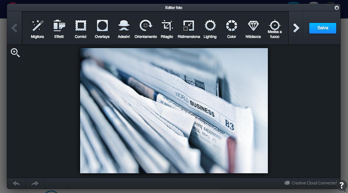 Editing grafico delle immagini - Adobe Creative Cloud
