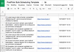 Excel Bulk Scheduling Template