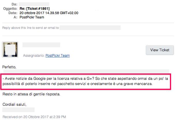 Avete notizie da Google per la licenza relativa a G+? So che state aspettando ormai da un po' la possibilità di poterlo inserire nel pacchetto servizi e onestamente è una grave mancanza.