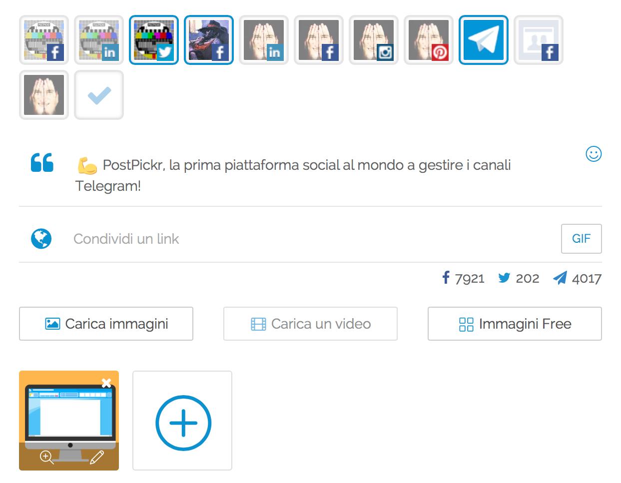 Gestione Canali Telegram - Editor dei Post Multicanale