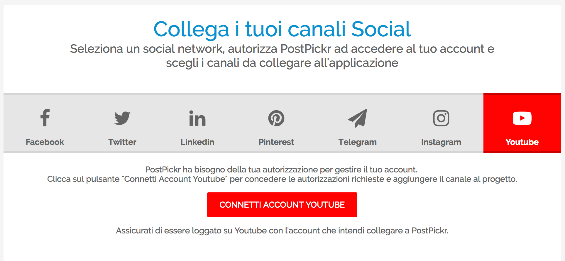 Collegamento Canali - YouTube Video Publishing