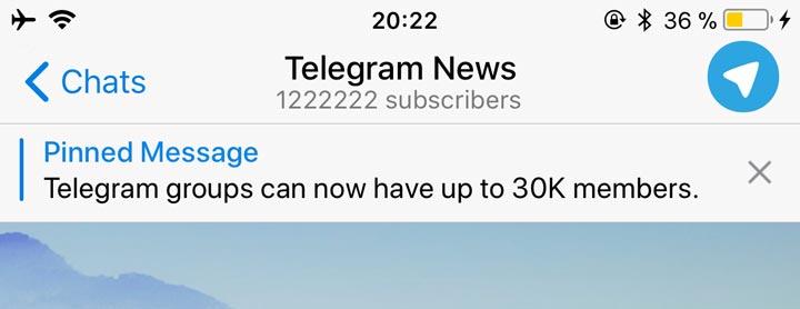 Canali Telegram - Messaggio bloccato in alto