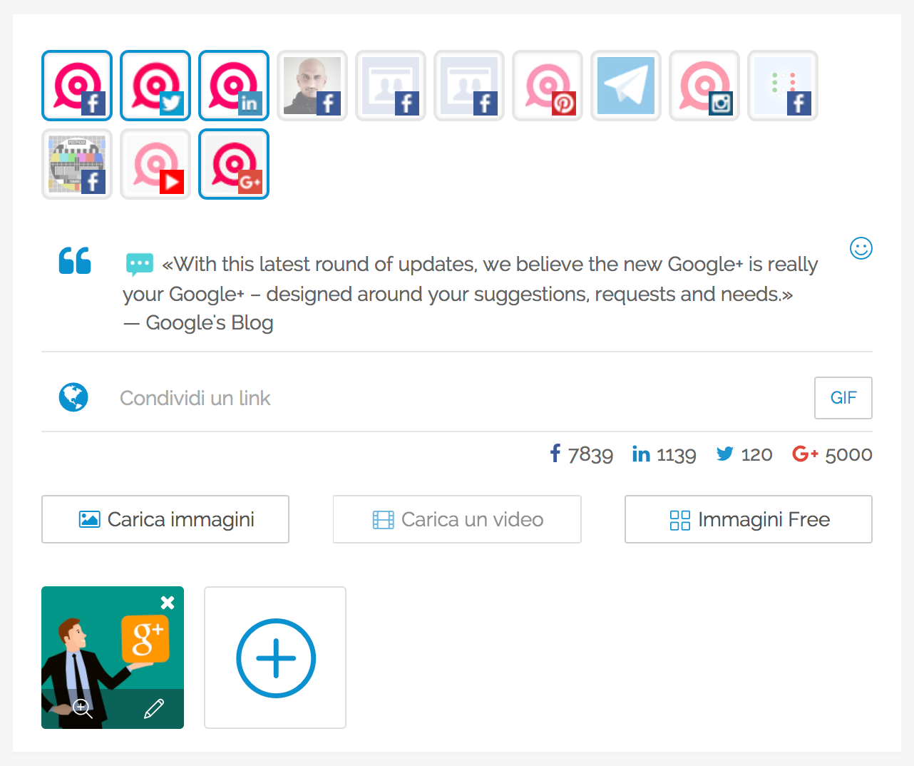 Pubblicare su Profili e Pagine Google+: creazione dei contenuti