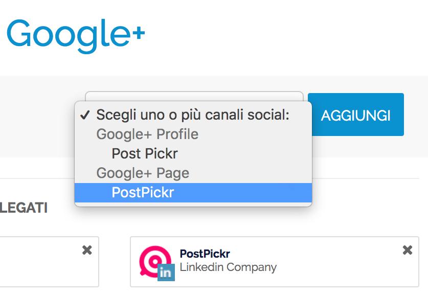 Pubblicare su Profili e Pagine Google+: scelta del canale