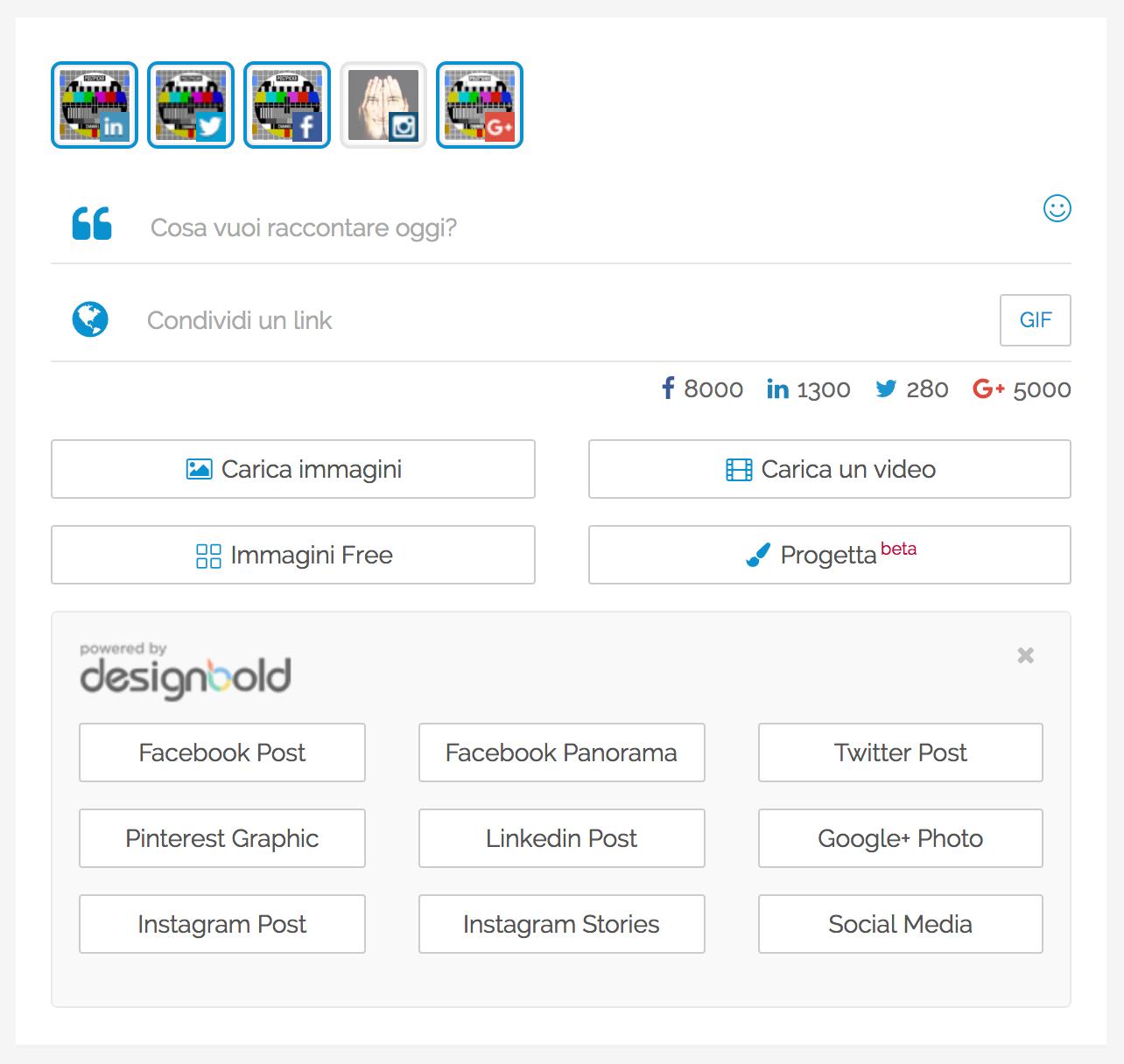 DesignBold + PostPickr: il pulsante Progetta