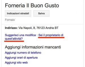 Google My Business: reclamare la proprietà di una scheda