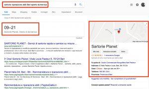 Google My Business: ricerche con intento di acquisto urgente