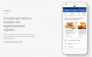La funzione Post di Google My Business