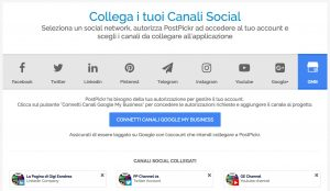 Google My Business - connessione canale on PostPickr