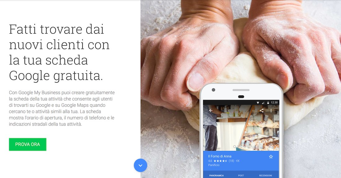 Home Page di Google My Business