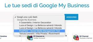 Google My Business - scelta location