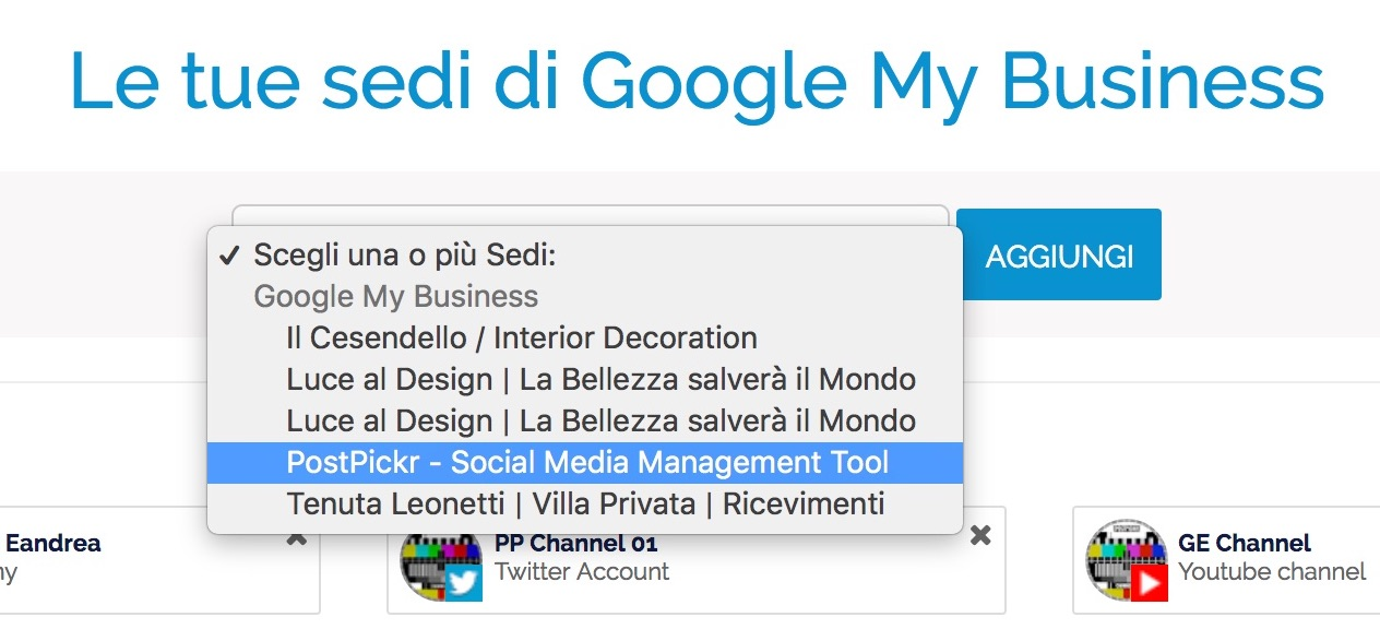 Google My Business - scelta location