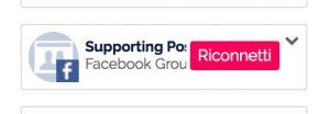 pulsante riconetti gruppi Facebook
