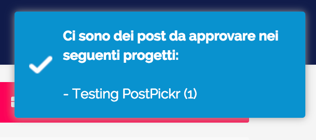 Notifiche - badge post da approvare