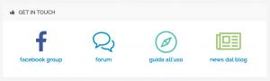 Colegamenti ai canali di assistenza e supporto di PostPickr