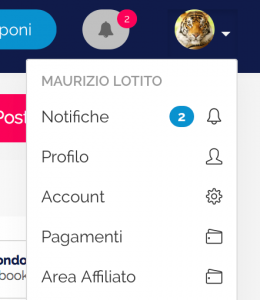 Menu notifiche