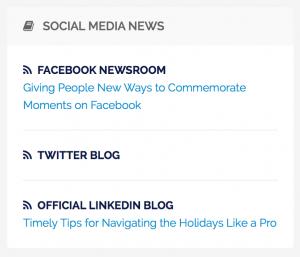 News dai principali social network