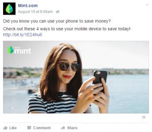 Esempio di post pubblicitario