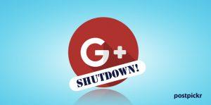 Dismissione di Google+ dalla piattaforma PostPickr