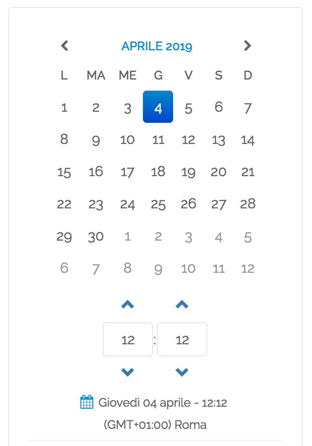 Post Editor - calendario