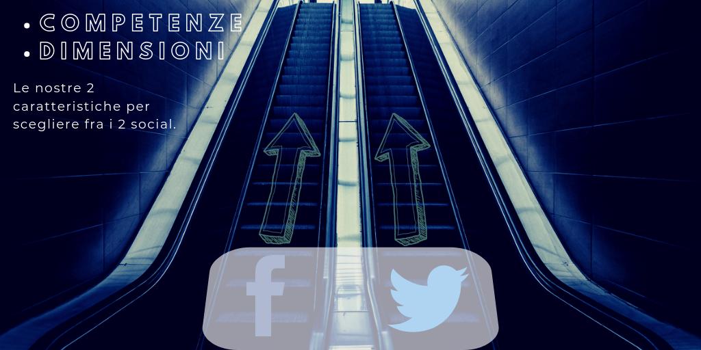 Facebook o Twitter? Scegli in base alle tue competenze e dimensioni - Immagine di Copertina del post