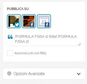 Un esempio di possibile utilizzo di formule fisse impostate direttamente in PostPickr.