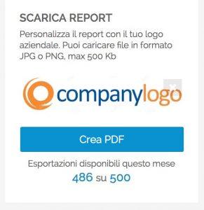 Audience - caricamento logo aziendale nei report