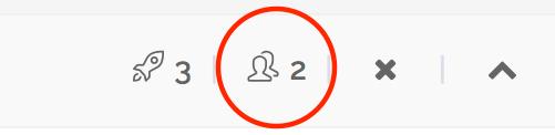 indicazione del numero dei membri  nell'intestazione della scheda Progetto