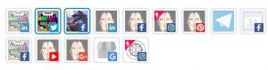 Post Editor - Canali social selezionati