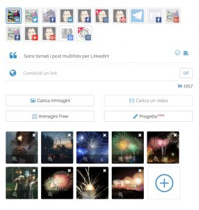 Un post multifoto nell'Editor di PostPickr