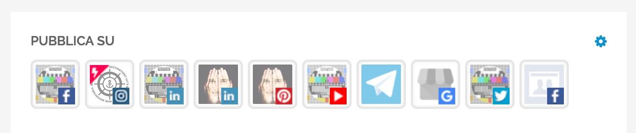 L'elenco dei canali in visualizzazione ad icone
