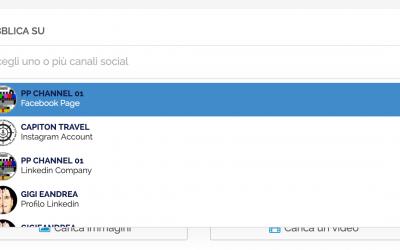 Post Editor Update: Visualizza i Canali Social come Etichette