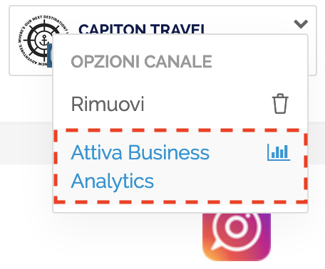 Opzioni Account - Attiva Business Analytics