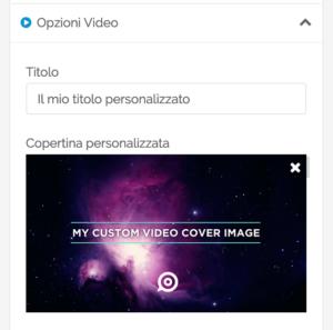 Opzioni Avanzate Facebook - titolo e video personalizzati