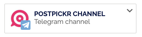 Badge identificativo dei Canali/Gruppi Telegram