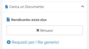 Opzione per il caricamento di file generici