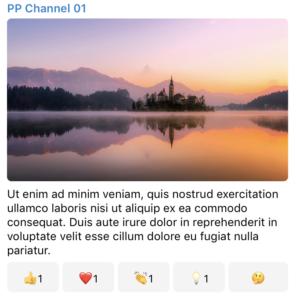 Un post con le Reazioni pubblicato su Telegram