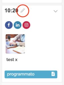 Icona di editing rapido delle programmazioni