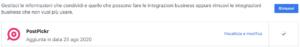 Rimuovere app PostPickr dalle Integrazioni Business di Facebook