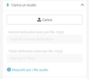 Opzioni Telegram: Carica un audio