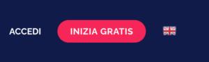 """Home page di PostPickr - pulsante """"INIZIA GRATIS"""""""